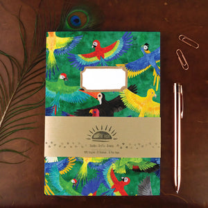 Psittacidae Parrot Print Notebook