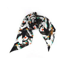 Load image into Gallery viewer, Improbability of Puffins Print Silk Skinny Minnie