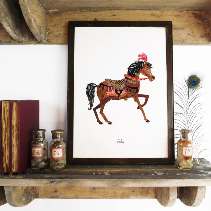 Le Carrousel Rhea the Carousel Horse Art Print
