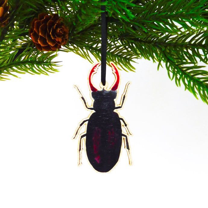 Coleoptera Stag Beetle Wooden Hanging Decoration