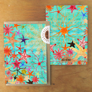 Asterozoa Starfish Greetings Card