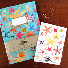 Load image into Gallery viewer, Asterozoa Starfish Print Eco Paper Sticker Sheet