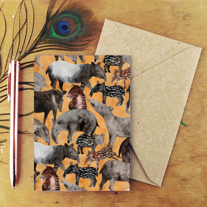 Candle of Tapirs Greetings Card