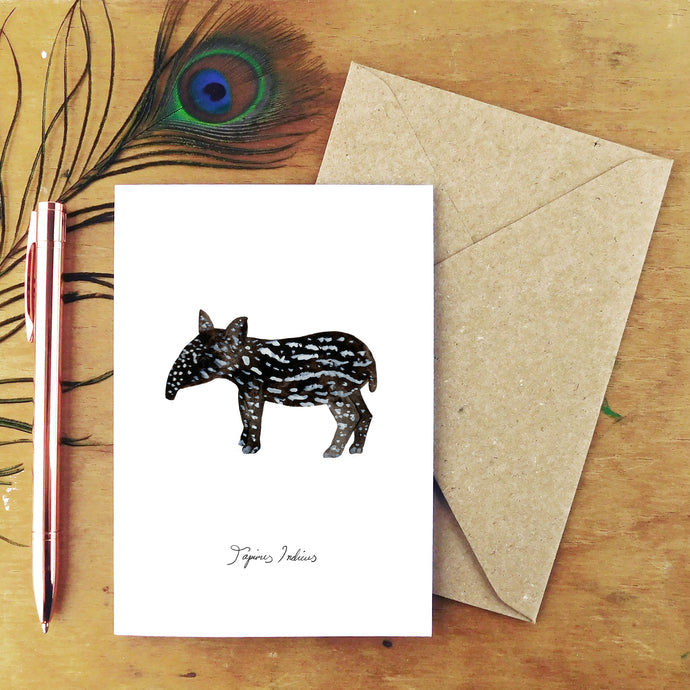 Candle Tapir Calf Greetings Card