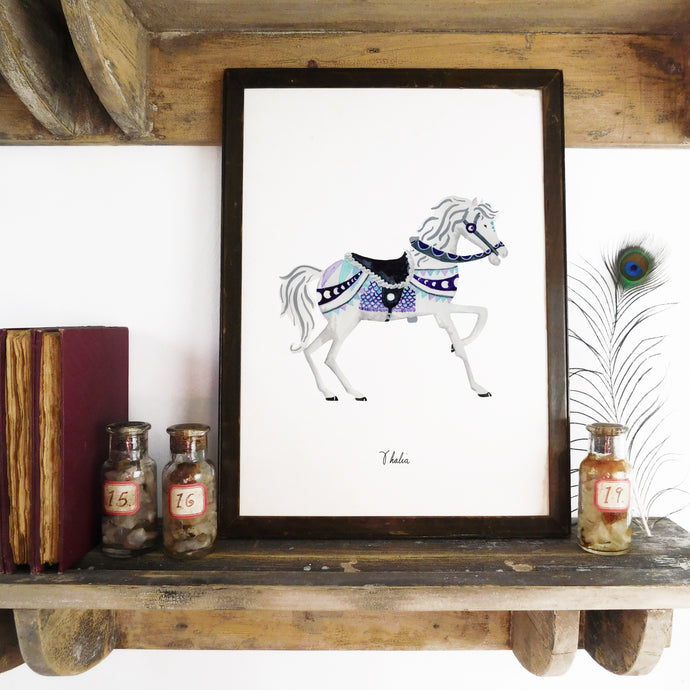 Le Carrousel Thalia the Carousel Horse Art Print