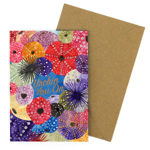 Echinozoa Urchin You On Greetings Card