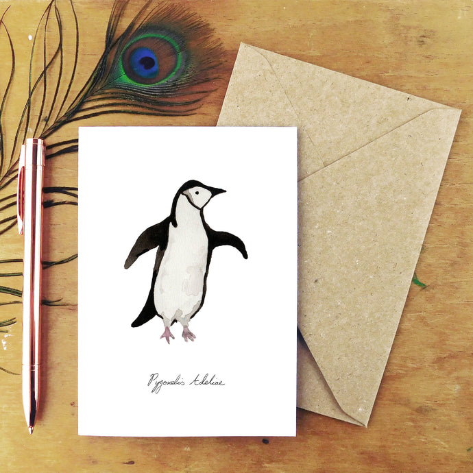Waddle Adelie Penguin Greetings Card
