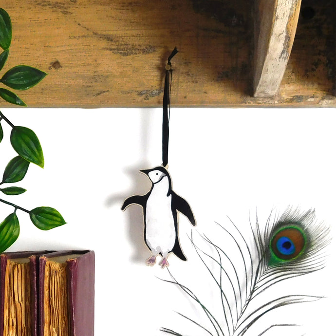Waddle Adelie Penguin Wooden Hanging Decoration