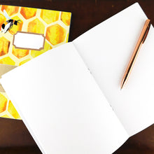 Load image into Gallery viewer, Mellifera Honeybee Print Journal and Notebook Set