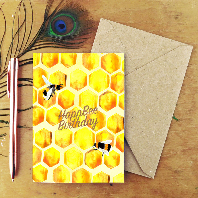 Mellifera Happ Bee Birthday Greetings Card