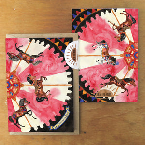 Le Carrousel du Soleil Greetings Card