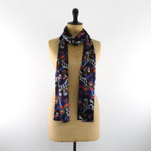 Load image into Gallery viewer, Catsquerade Print Silk Amelia Aviator Scarf