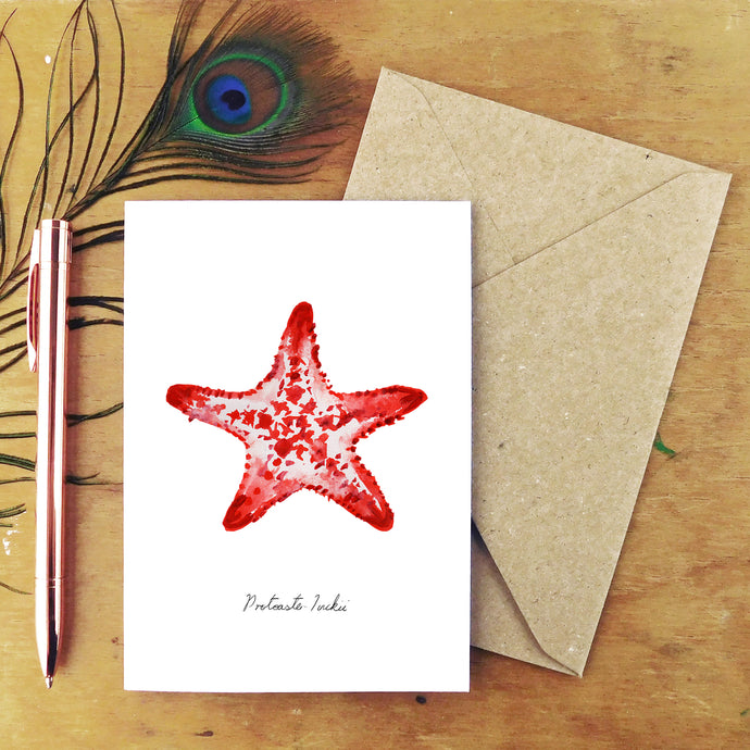 Asterozoa Crown of Thorns Starfish Greetings Card