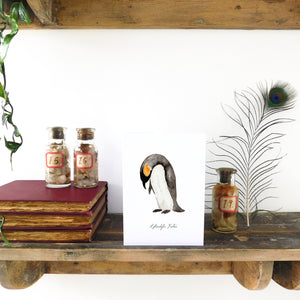 Waddle Emperor Penguin Greetings Card