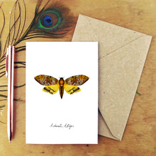 Load image into Gallery viewer, Death's Head Hawkmoth Moth Greetings Card