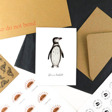 Load image into Gallery viewer, Waddle Humboldt Penguin Greetings Card