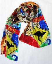 Load image into Gallery viewer, The Lasseter Highway Print Silk Scarf