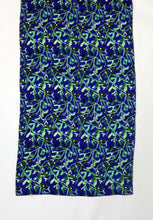 Load image into Gallery viewer, Midnight Mistletoe Print Silk Scarf