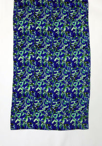 Midnight Mistletoe Print Silk Scarf