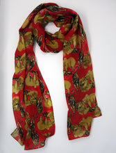 Load image into Gallery viewer, Oh My! Print Fine Wool Scarf