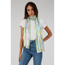 Load image into Gallery viewer, Sorbet Stripe Print Silk Scarf