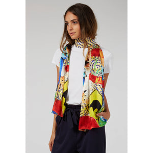The Lasseter Highway Print Silk Scarf