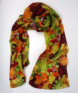 Pumpernickel Print Fine Wool Scarf