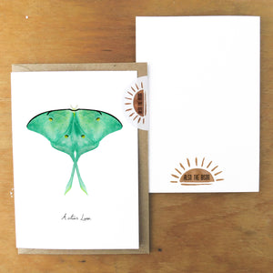 Luna Moth Greetings Card