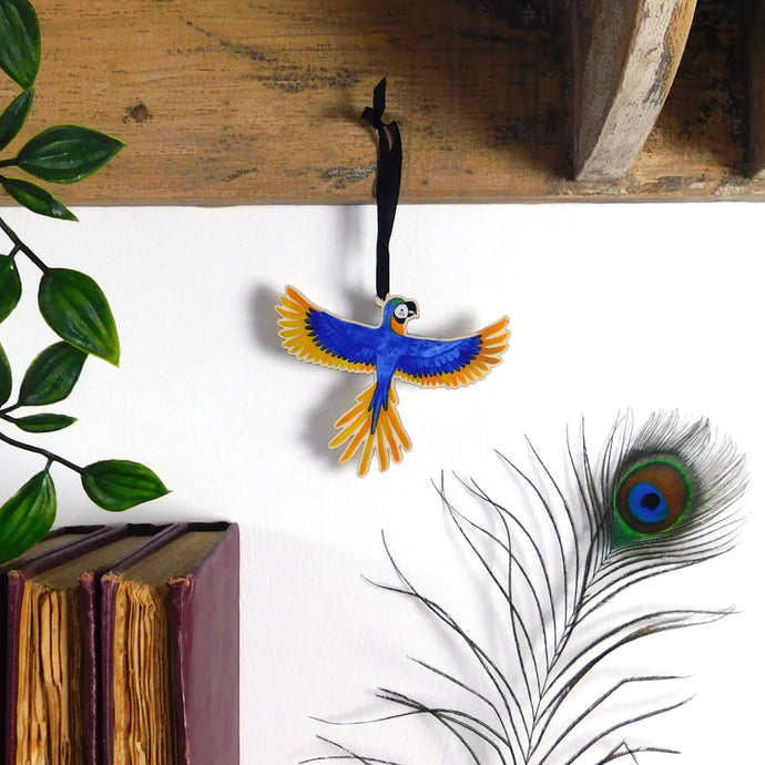 Psittacidae Macaw Wooden Hanging Decoration
