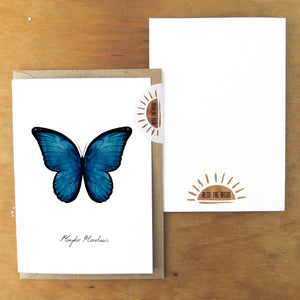 Morpho Butterfly Greetings Card