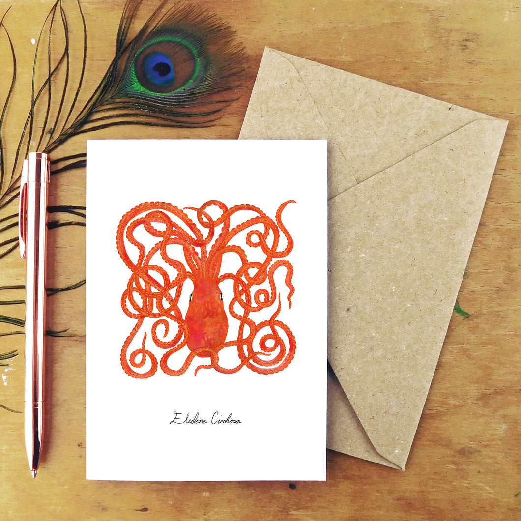 Octopus Greetings Card
