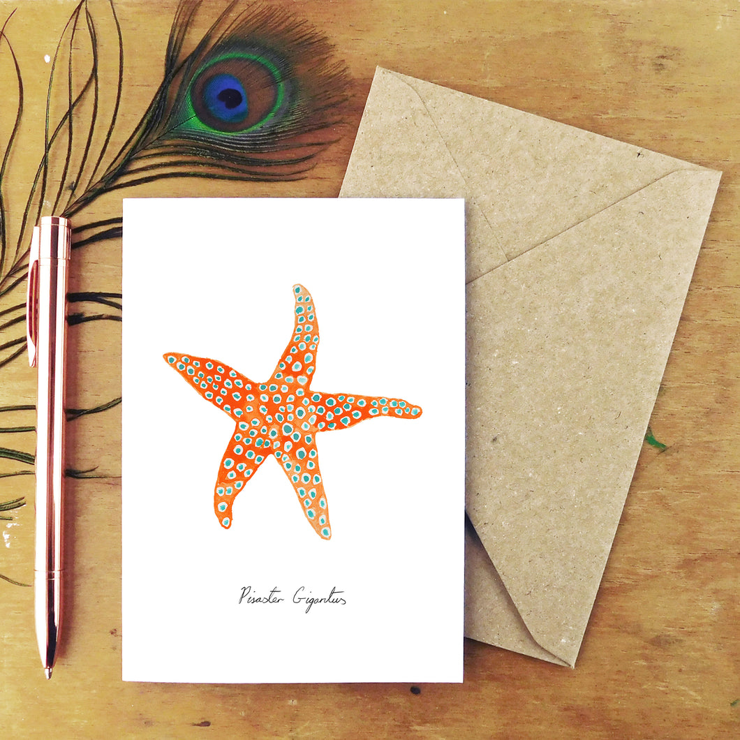 Asterozoa Giant Starfish Greetings Card