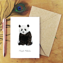 Load image into Gallery viewer, Embarrassment Giant Panda Greetings Card