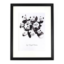 Load image into Gallery viewer, Embarrassment of Pandas Art Print