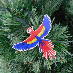 Psittacidae Parrot Wooden Hanging Decoration
