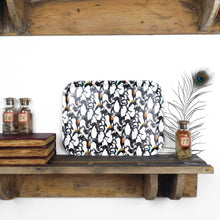 Load image into Gallery viewer, Waddle of Penguins Print Birch Wood Tray