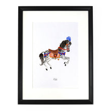 Load image into Gallery viewer, Le Carrousel Pluto the Zebra Carousel Horse Art Print