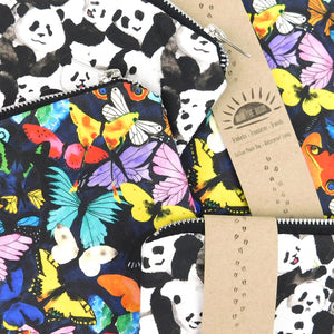 Lepidoptera Butterfly Print Pouch Bag
