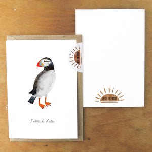 Improbability Atlantic Puffin Greetings Card