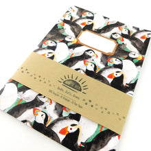 Load image into Gallery viewer, Improbability of Puffins Print Notebook