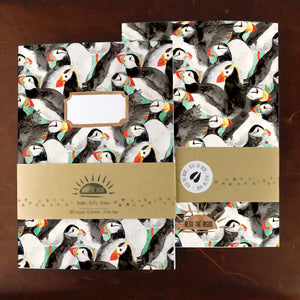 Improbability of Puffins Print Notebook