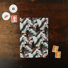 Load image into Gallery viewer, Improbability of Puffins Print Postcard