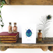 Load image into Gallery viewer, Coleoptera Scarab Beetle Greetings Card