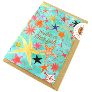 Asterozoa You're a Star fish Greetings Card