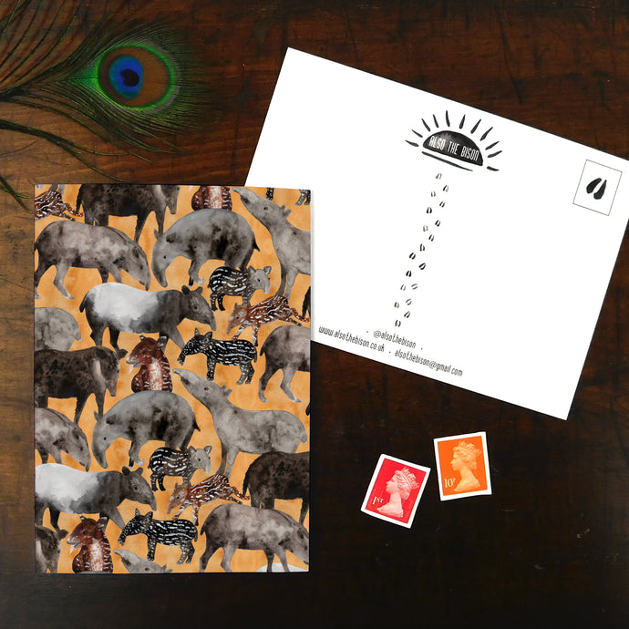 Candle of Tapirs Print Postcard
