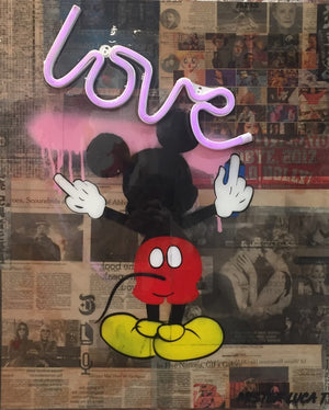 Mickey In Love on Neon