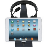 Headset Hangout, Universal Headphone Stand & Tablet Holder