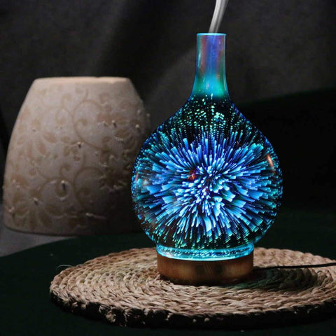 Fireworks Waterfall Essential Diffuser - 7 Colors Effects