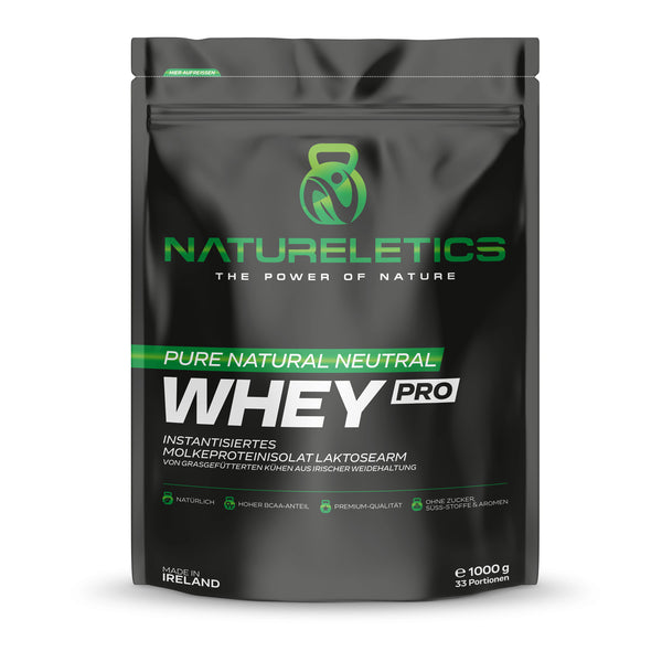 Natureletics Pure Natural Whey, instantisiertes Premium Molkeprotein Isolat, Pro Series, Laktosearm