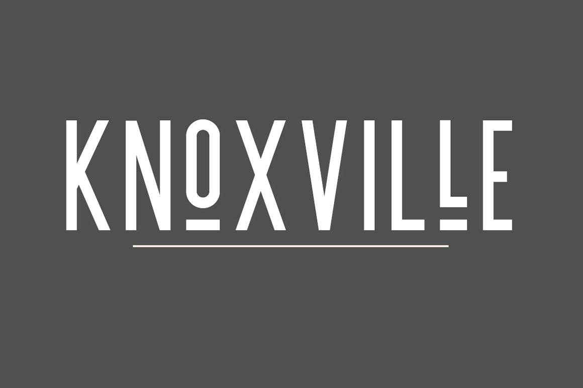 Knoxville | A Logo Creating Font